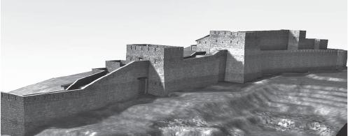 Reproducció de la muralla del Montgròs